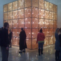 "Ai Weiwei artwork, ""Cube Light."" Image by Pittigrilli, Wikimedia Commons."