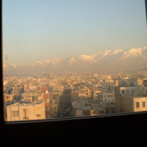 Looking out onto the snowy Alborz Mountains, which surround Tehran, taking during a trip to Iran in 2004. Several stories were published from the reporting trip, including a piece about Iran's annual film festival, which some have compared to Cannes.