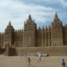 The great mud mosque in Djenne, Mali, taken during a trip to West Africa in 2003.